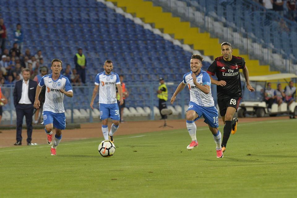 Craiova-Milan 0-1. Băluță: Ma bucur ca nu ne-am facut de ras cum credeau multi ca se va intampla. Atmosfera a fost de vis, ne-am ridicat la nivelul suporterilor.