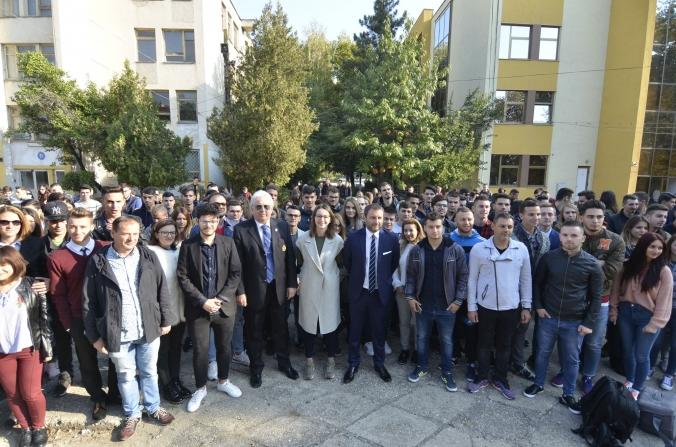 Devis Mangia, speech în limba română la deschiderea anului universitar la FEFS