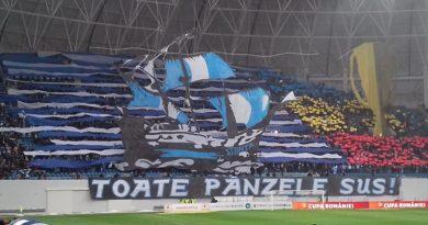 """Craiova-Dinamo 1-0. """"Toate pânzele sus"""", coregrafie 3D realizată de Peluza Nord"""