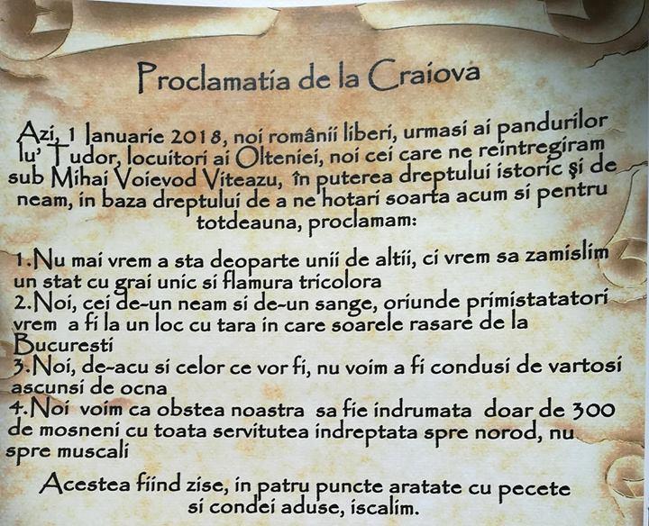 PMP propune Proclamația de la Craiova și ședințe solemne la CL și CJ Dolj pe 27 martie