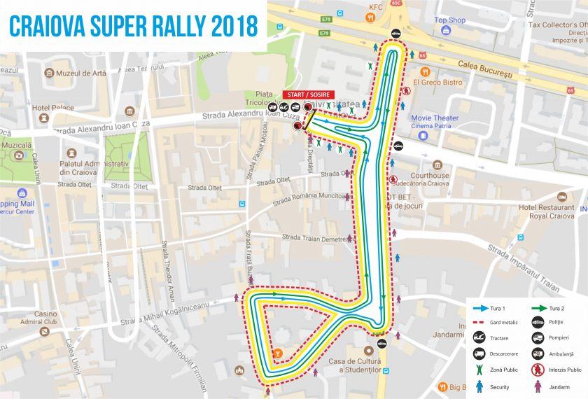 Harta Craiova Super Rally 2018 840 570 Punct Ochit